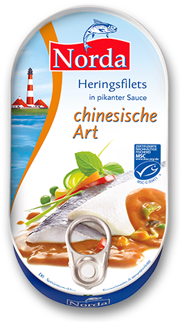 Heringsfilets China in pikanter Gemüse-Sauce