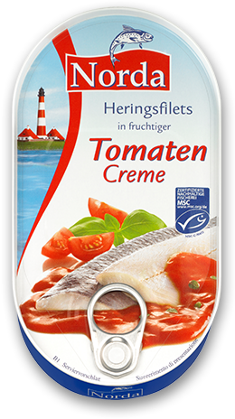 Heringsfilets in fruchtiger Tomaten Creme